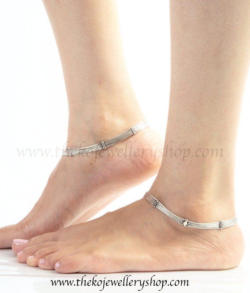 anklets silverlinings india anklet online silver filigree linings in buy products paayal