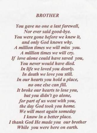 Image Result For Memory Tattoo Brother Trevor Brother Poems
