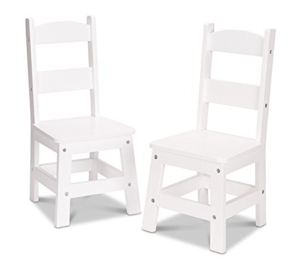 Melissa Doug Wooden Chair Pair White Children S Furniture