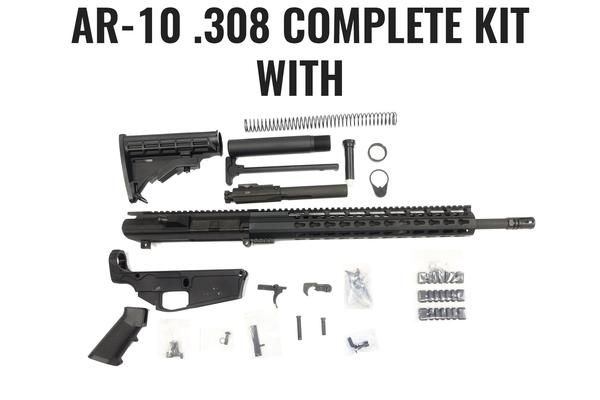 This is a complete AR-10 upper receiver kit with an 18