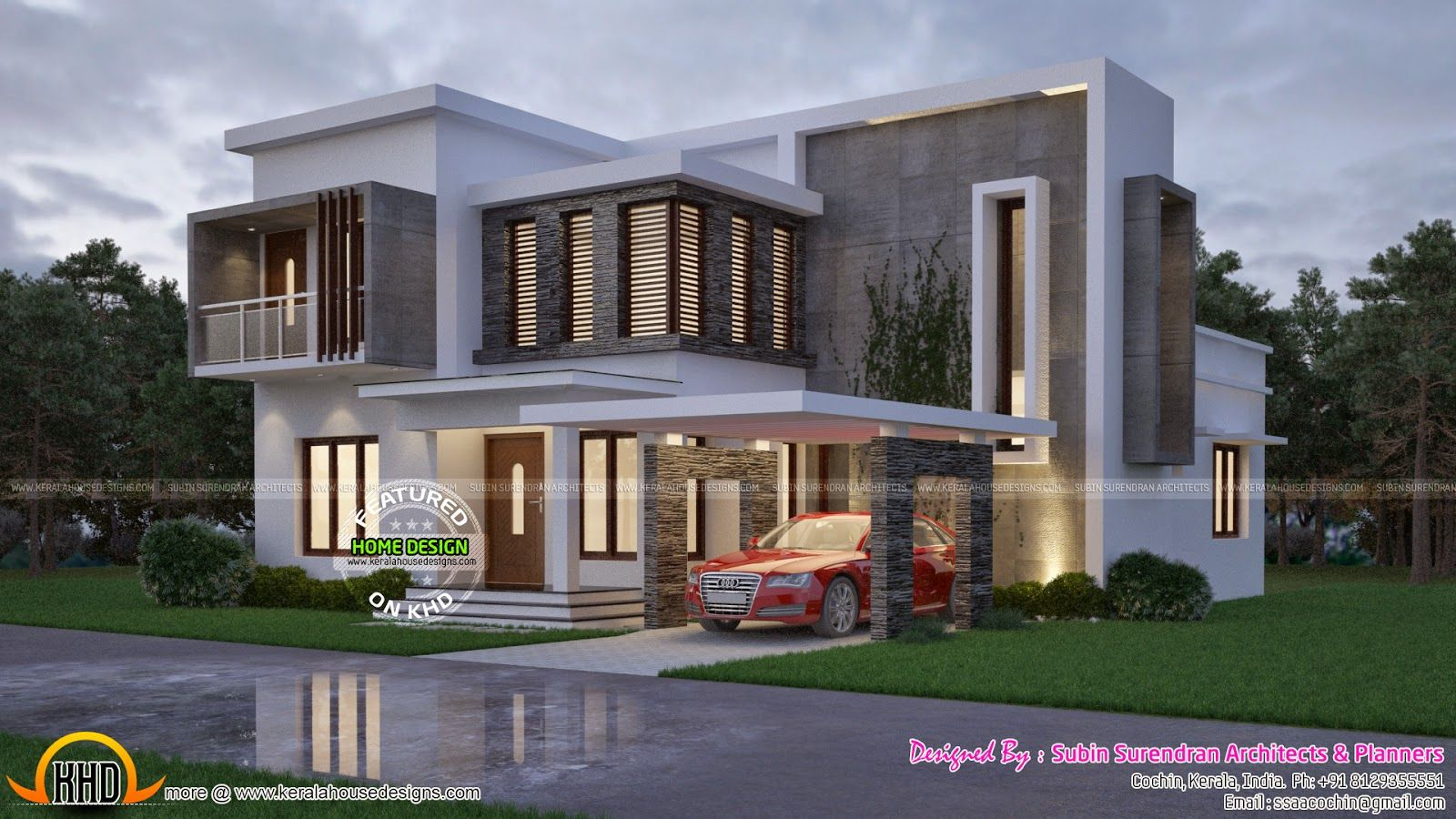 Contemporary Home Kerala Design And Floor Plans Modern House Architecture Simple Kerala House Design Single Floor House Design Contemporary House Design
