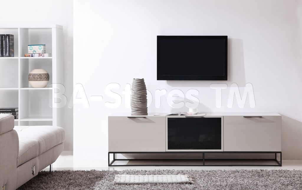 Animator TV Stand in High-Gloss Cream by B-Modern