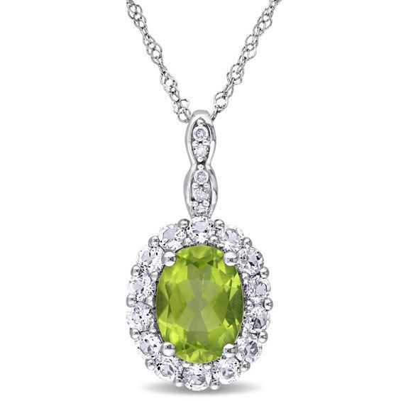 Zales 10.0mm Clover-Shaped Simulated Peridot Earrings in Sterling Silver with 14K Gold Plate VBPdhX2ByH
