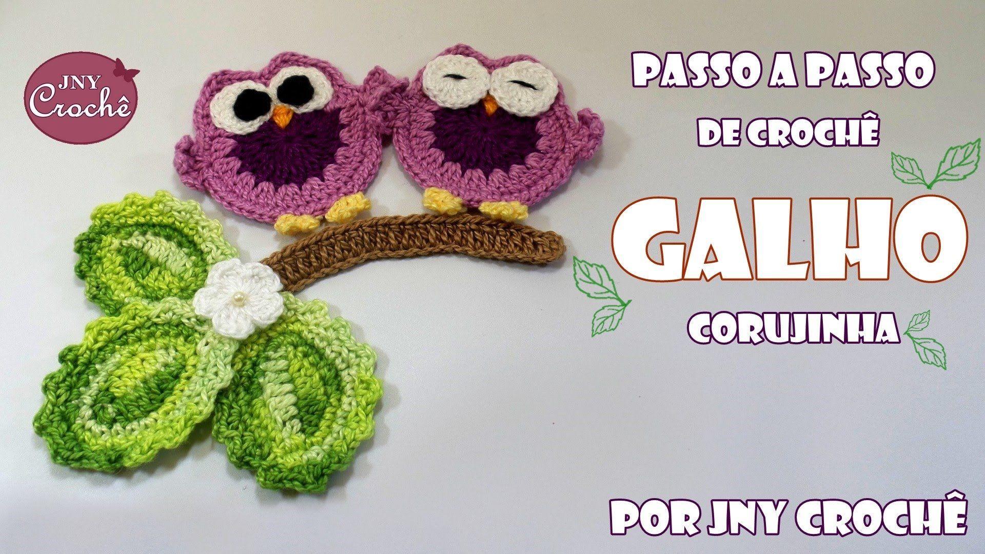 Galho corujinha de crochê - JNY Crochê   Amigurumi   Pinterest