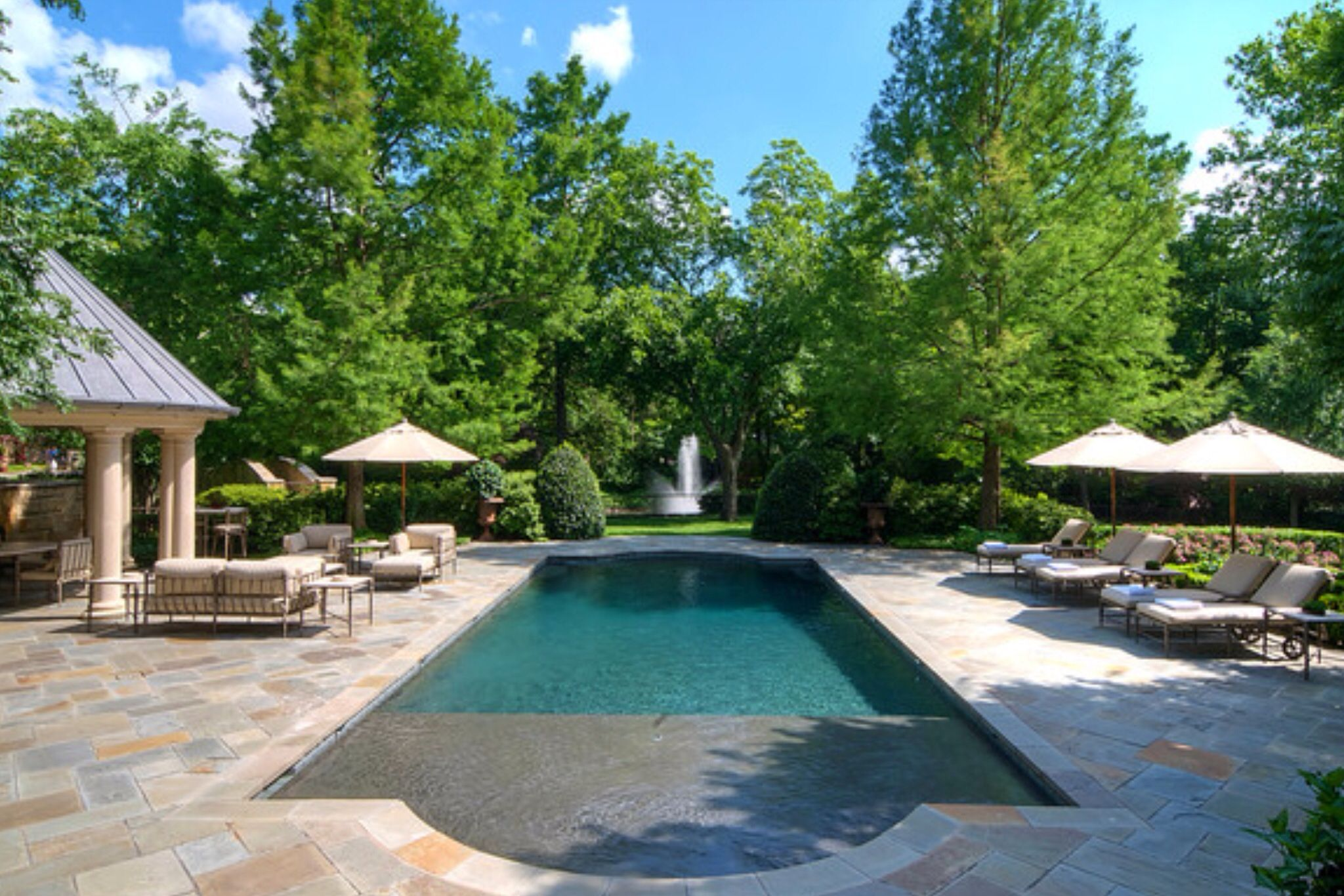 Decking ultimate pools pinterest for Pool design with tanning ledge