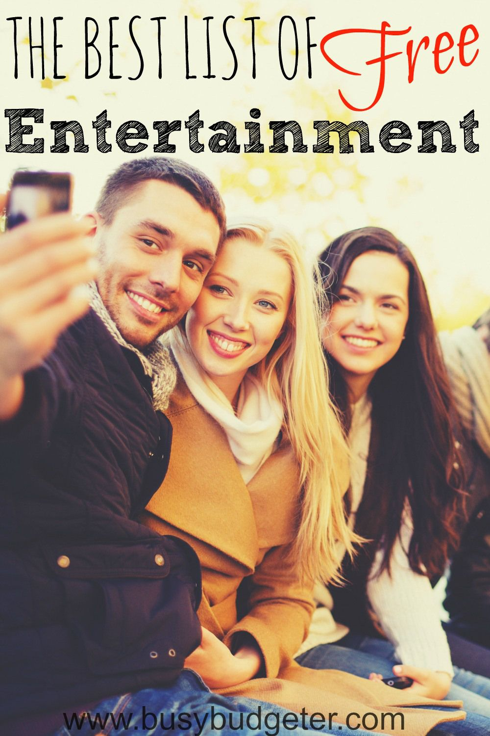 The best list of free entertainment--would be a good idea for date nights!
