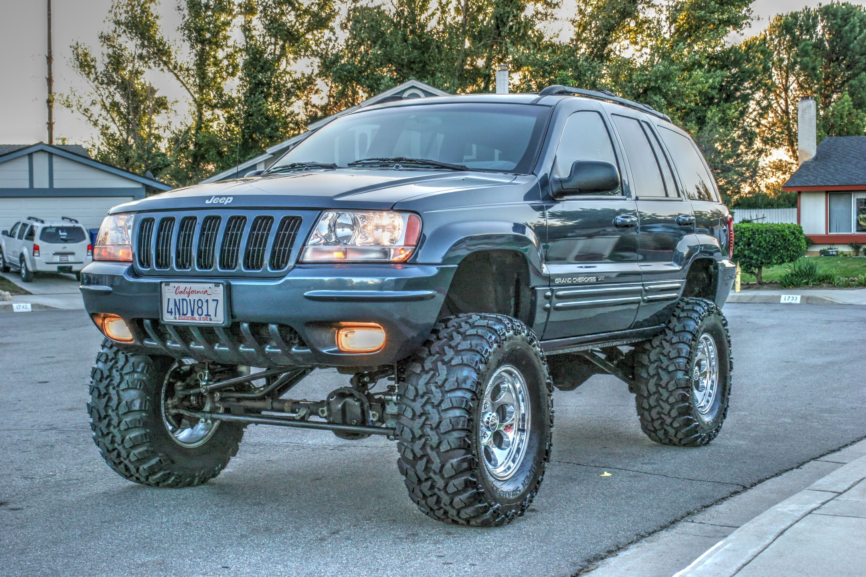2000 jeep grand cherokee wj rockkrawler 6 5 lift 2 front spacers irok radials. Black Bedroom Furniture Sets. Home Design Ideas