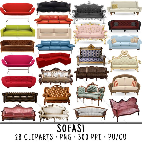 Sofa Clipart Couch Clipart Furniture Clipart Sofa Clip Art Couch