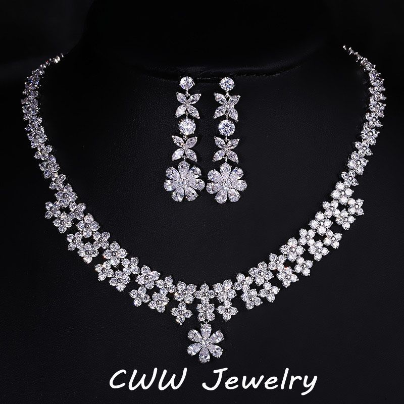 Cheap Necklace Earring Set Buy Quality Earrings Directly From China Fashion Suppliers Pera Austrian Crystal Wedding Jewelry Snow
