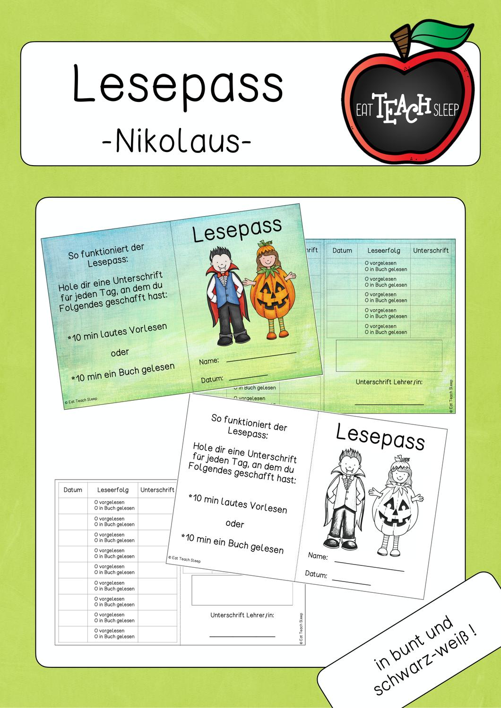 Lesepass Halloween Unterrichtsmaterial In Den Fachern Daz Daf Deutsch Fachubergreifendes In 2020 Unterrichtsmaterial Lesemotivation Lesen