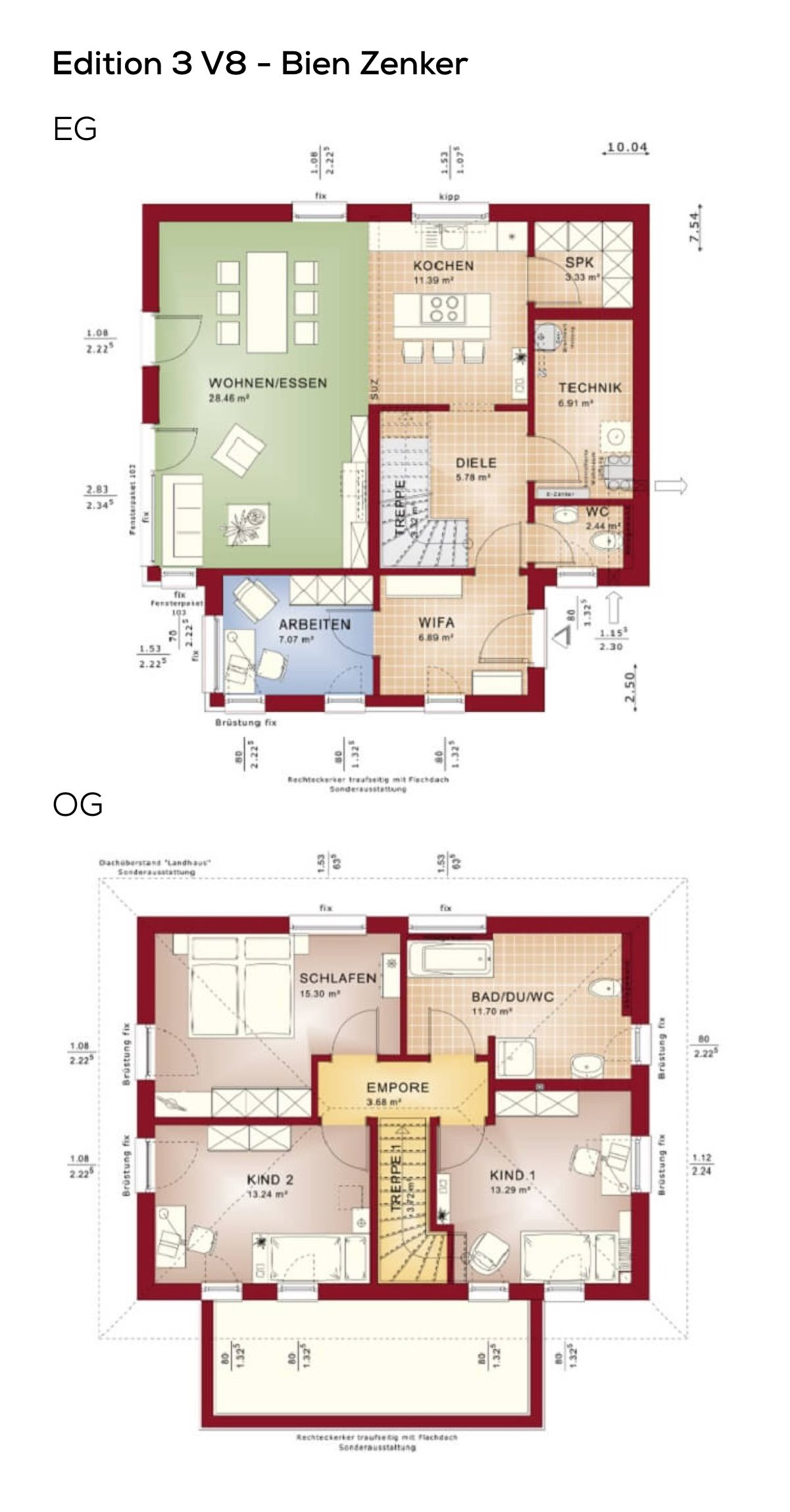 Grundriss Stadtvilla quadratisch mit Walmdach Architektur & Erker ...