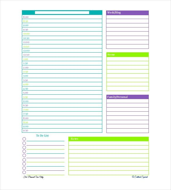 24+ Free Daily Schedule Templates & Daily Planners