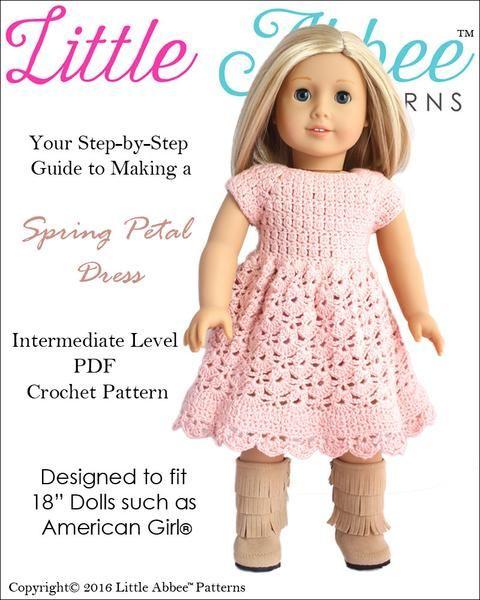 Spring Petal Dress Crochet Pattern | Pinterest | Puppen
