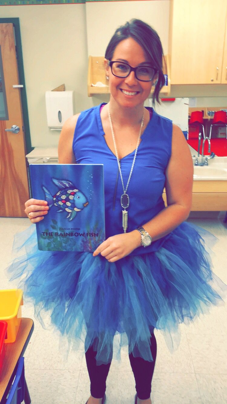 Storybook character dress up day teacher life the for Rainbow fish costume