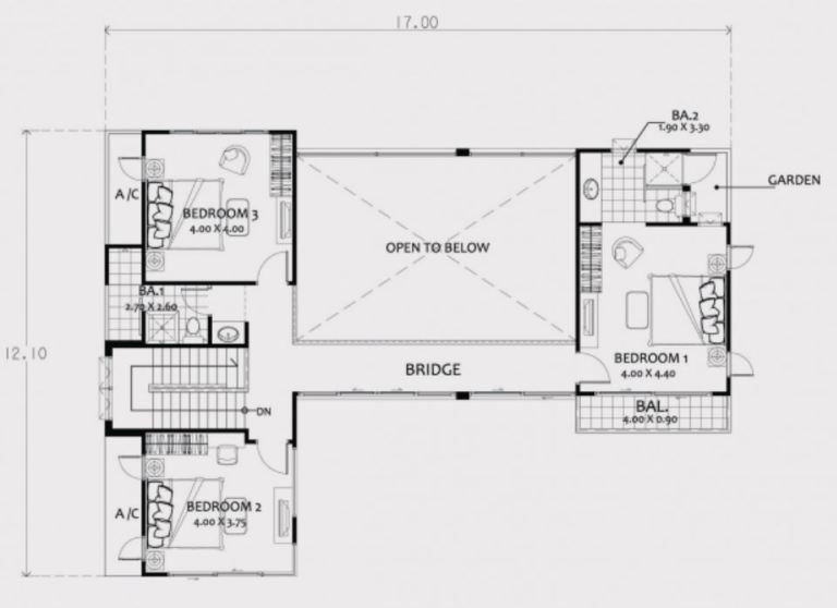 Home Design Plan 17x13m With 4 Bedrooms Home Design With Plan Two Story House Design Home Design Plan Flat Roof House Designs