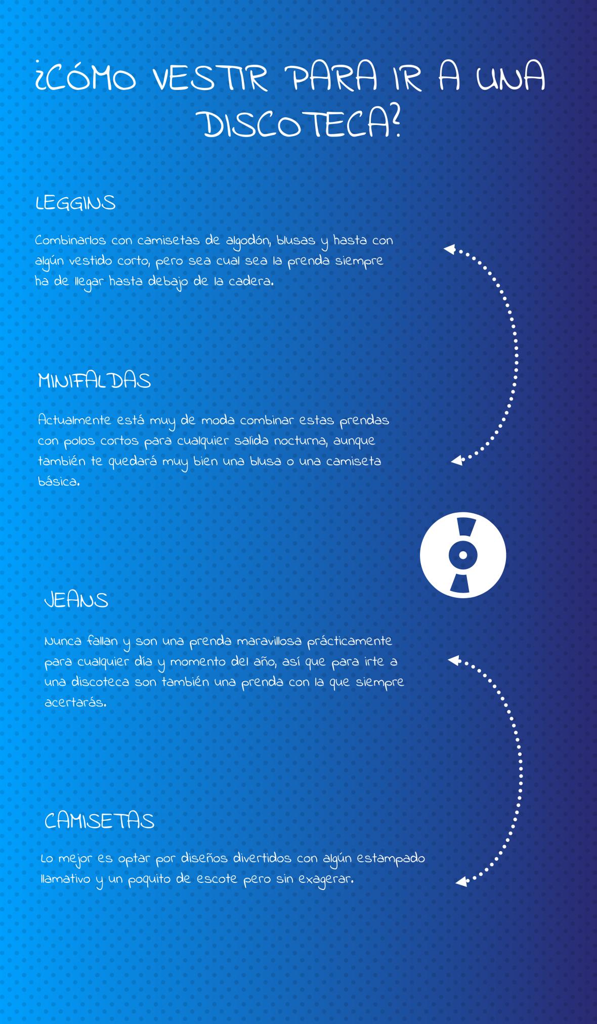 Infografía Cómo Vestir Para Ir A Una Discoteca Discotecas Camisetas De Algodón Como Vestir