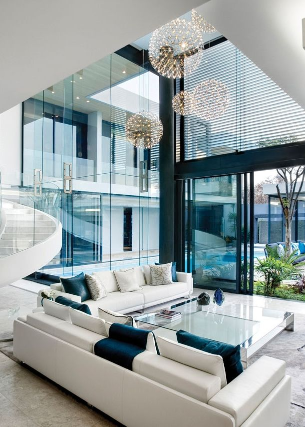 Beautiful Homes Interior Part - 33: The Glass House Or Well Coming Warm House - Home Decor