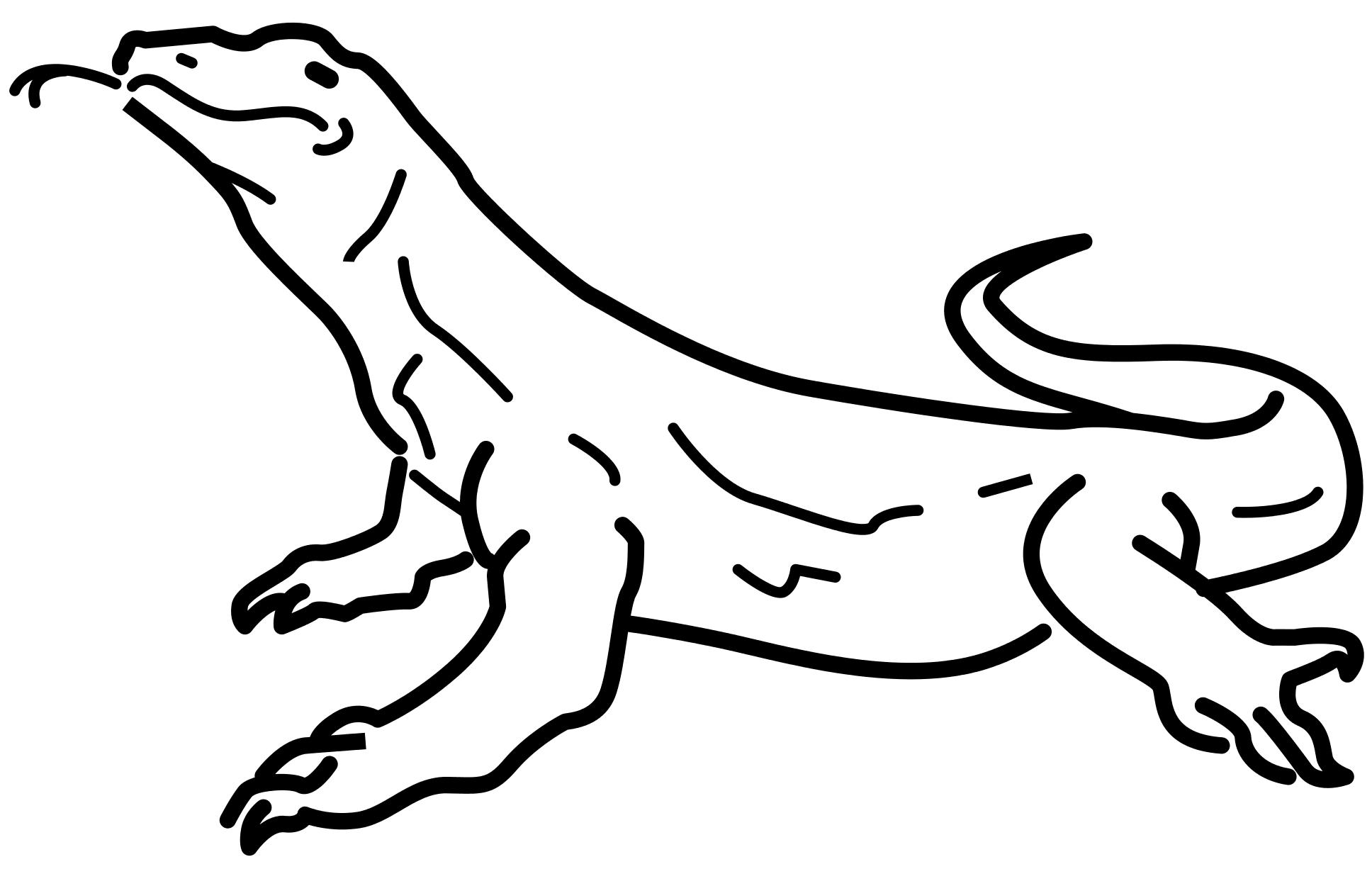 Komodo Dragon Coloring Page 1