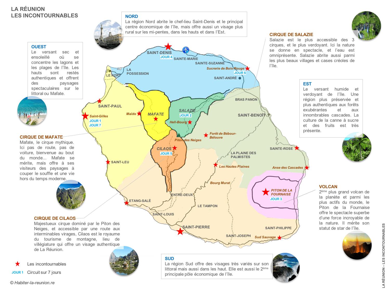 la réunion carte touristique Tourisme à La Réunion | La reunion, Carte de la reunion, Carte