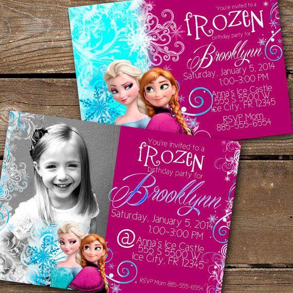 frozen birthday invite avery frozen birthday pinterest