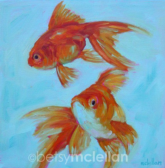 Goldfish Goldfish Art Goldfish Decor Goldfish Gift Fish Art