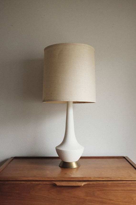 Beautiful Mid Century Br Ceramic Table Lamp Quintessential Danish From The 1960s This Listing Is For One