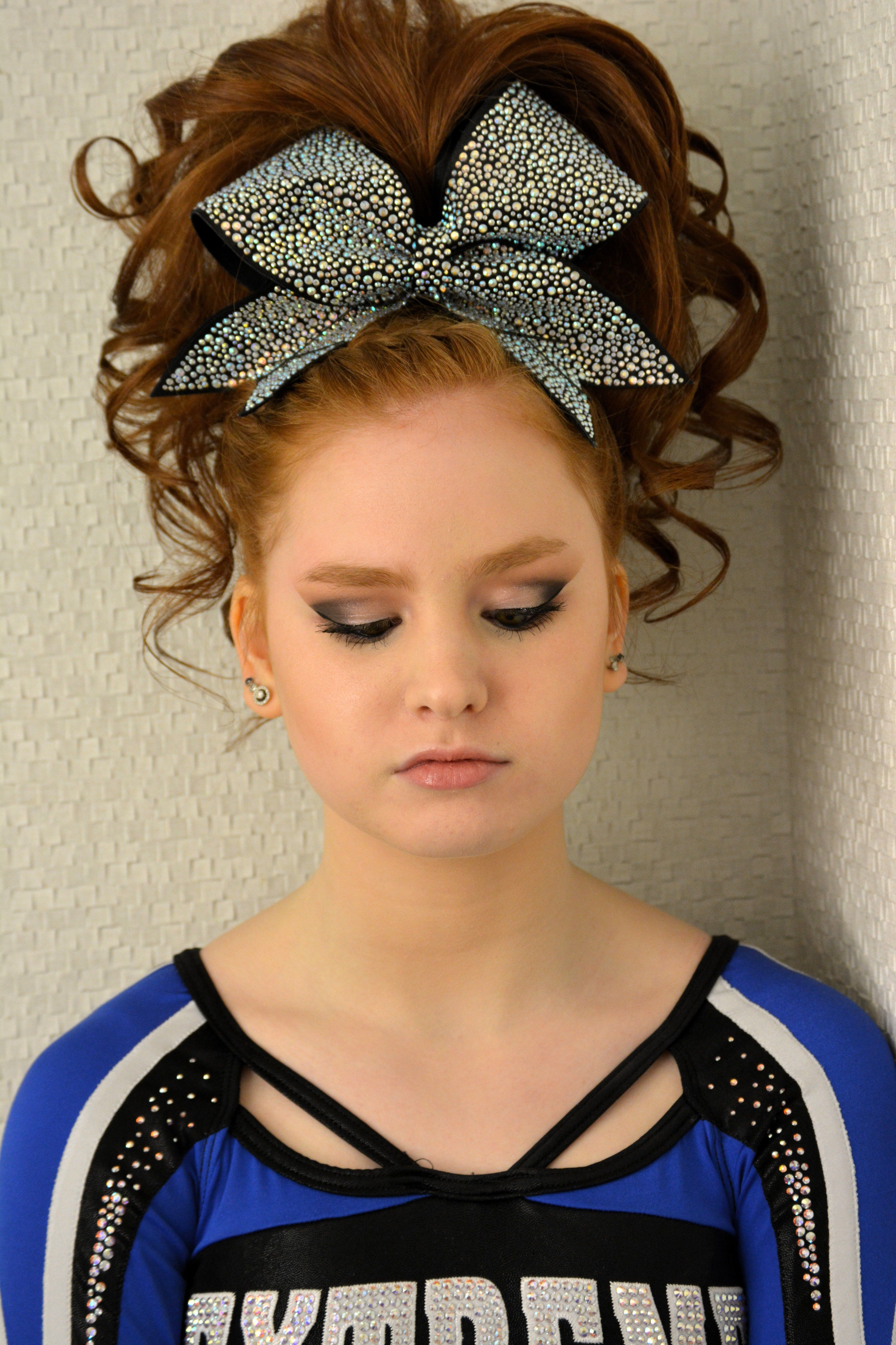 Cheer Hair And Makeup Teased Hair And Teased Hair Cheer Hair Cheer Makeup