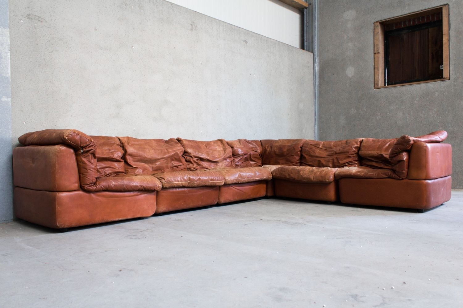 Superb Modular Sofa By Rolf Benz In Cognac Leather 96271 In 2019 Short Links Chair Design For Home Short Linksinfo