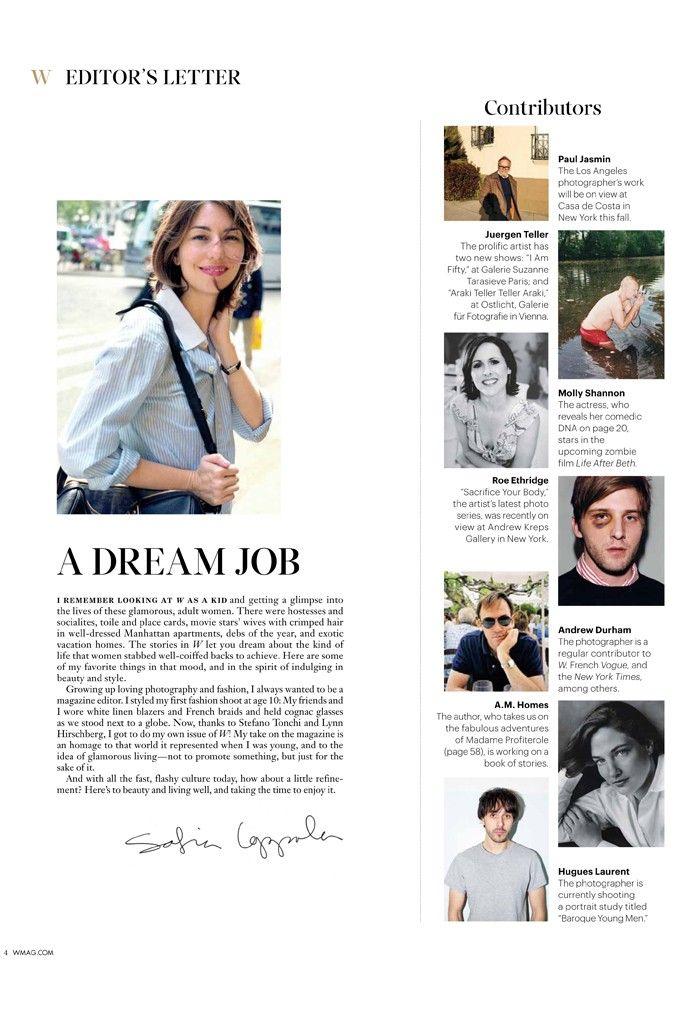 Sofia Coppola Guest Edits for W Magazine Molly shannon - magazine editor job description