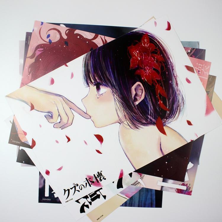 8 pieces42x29cm kuzu no honkai high quality vinyl anime