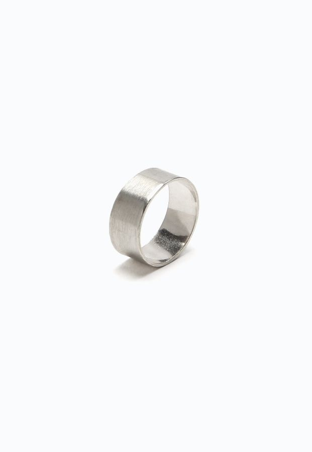 giantLION Sterling Silver Wide Memory Ring