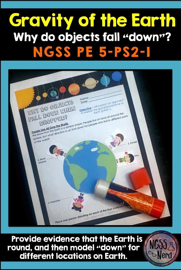 NGSS 5-PS2-1 5th Grade Gravity | Teaching time, Worksheets and Students