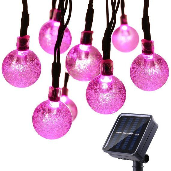 30LEDs Globe Ball Lights Solar Powered Outdoor String Lights