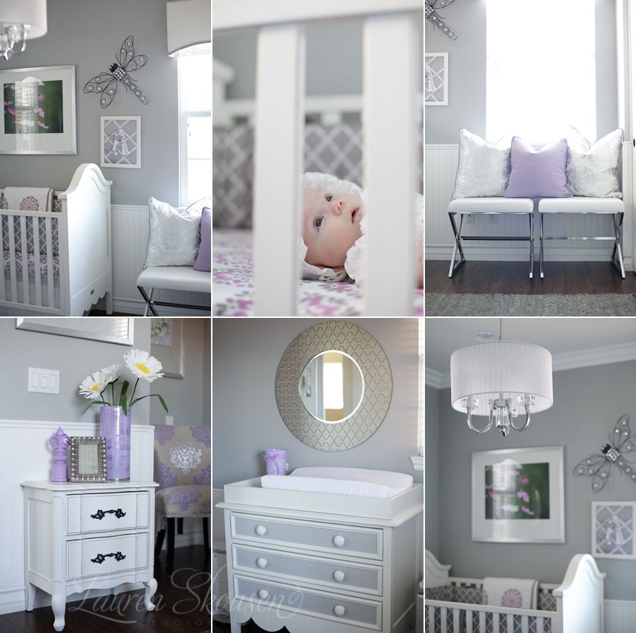 Best Grey And Lavendar Will Be My Baby Girl S Room Some Day 400 x 300