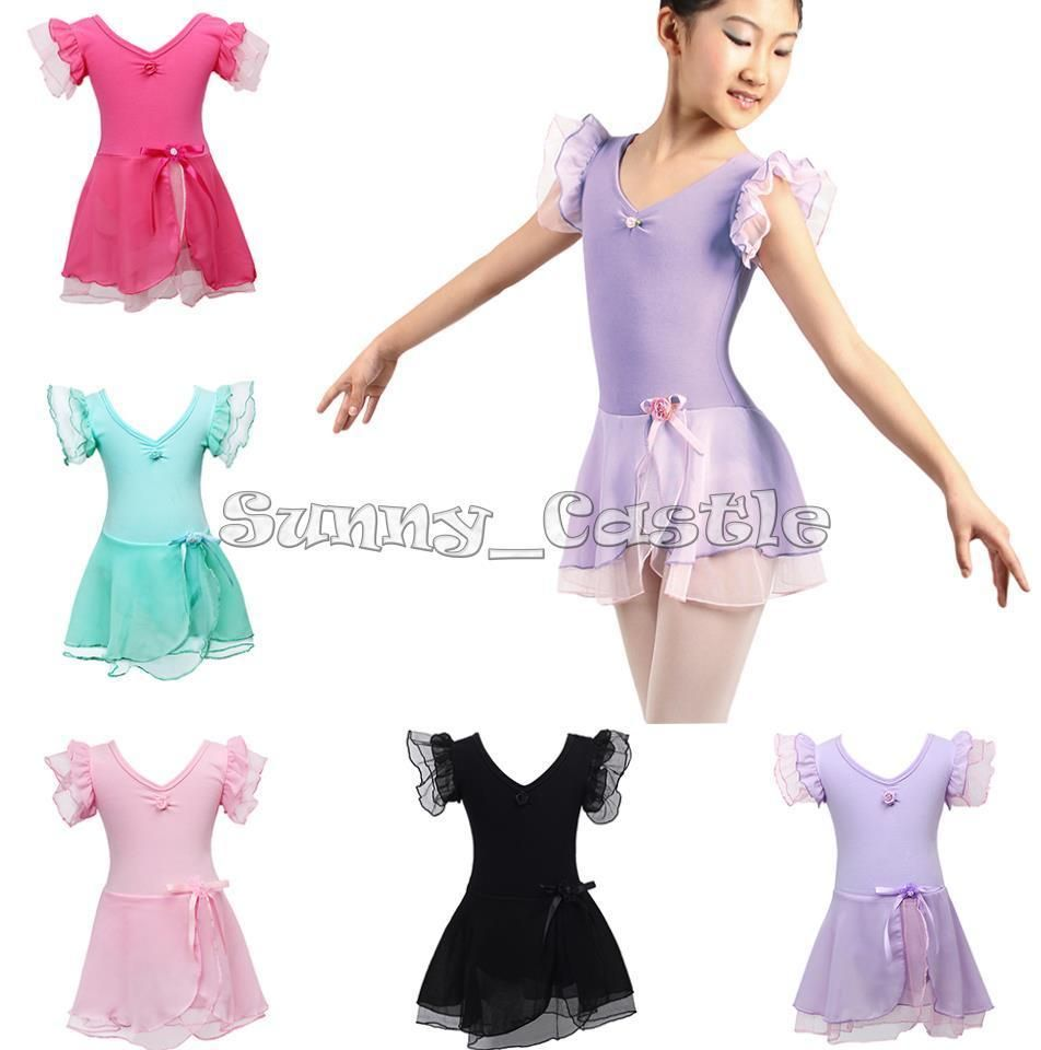 Toddler Girl Ballet Dress Toddler Child Leotard Tutu Skirt Dance wear Costume