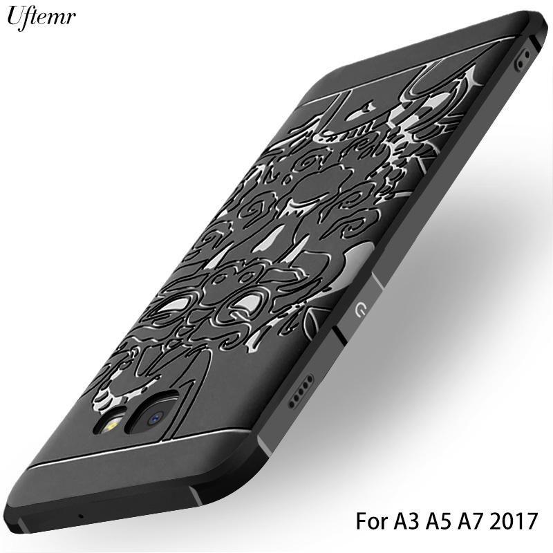 Case For Samsung Galaxy A5 2017 A7 2017 Luxury 3D Silicon Scrub ...