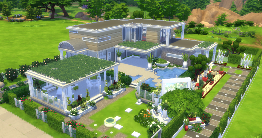 Sims 4 maison the design 39 fool house les maisons sims for Maison moderne sims 4