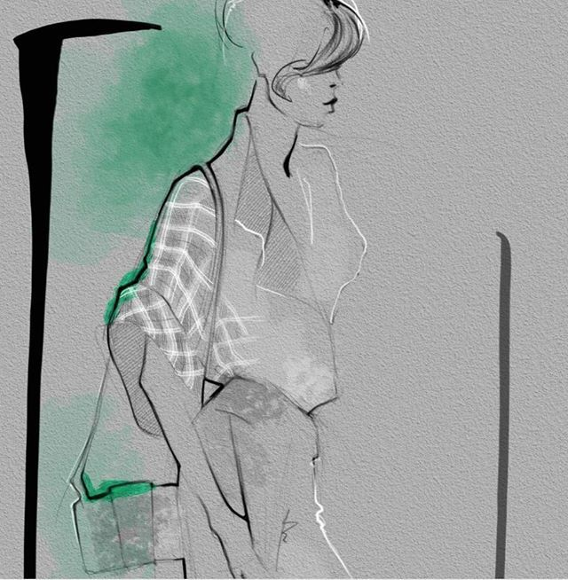 Illustration by Julija Lubgane | Architect's Fashion