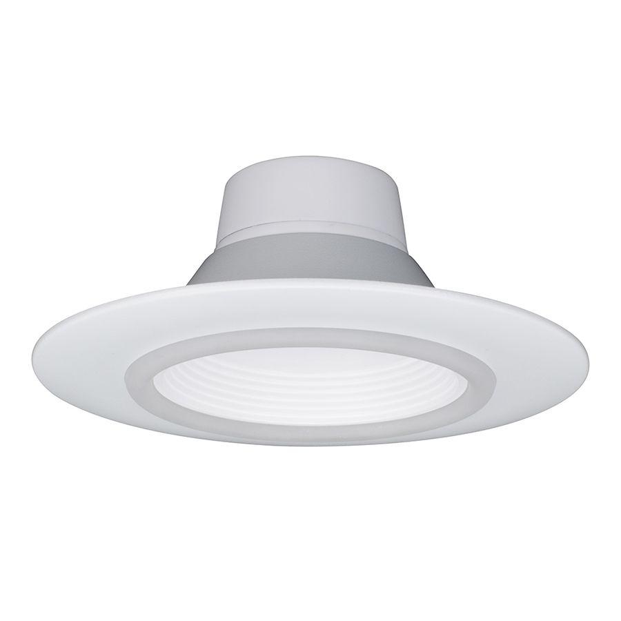 2713c2aa466 Utilitech 65-Watt Equivalent White LED Recessed Retrofit Downlight (Fits  Housing Diameter  5-in or 6-in)