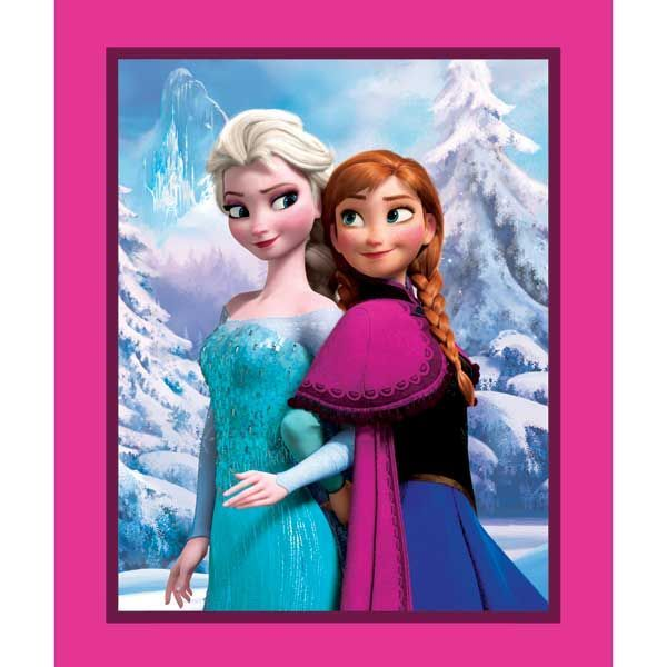 Elsa and Ana fans can relive the magic of Disney's Frozen with projects made from these cotton fabrics. 100% cotton fabric. #Quilt #Disney #Frozen #Sisters #Fabric #Craft #DIY