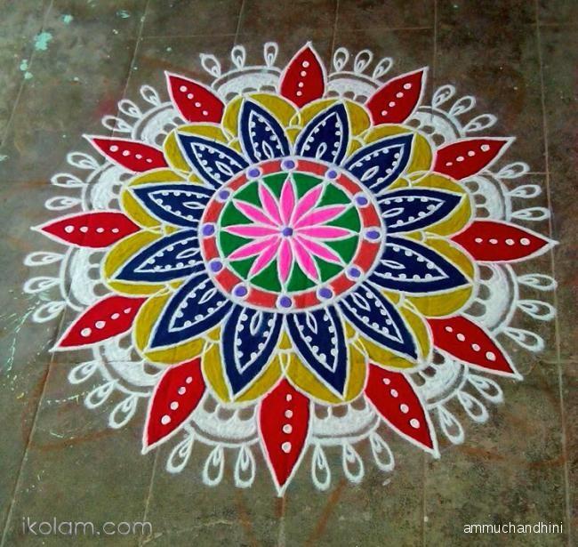 Tamil new year kolam Rangoli - kolams Rangoli designs, Kolam