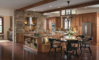 Omega Cabinetry: Delray Cherry Sage - traditional - kitchen - by MasterBrand Cabinets, Inc.