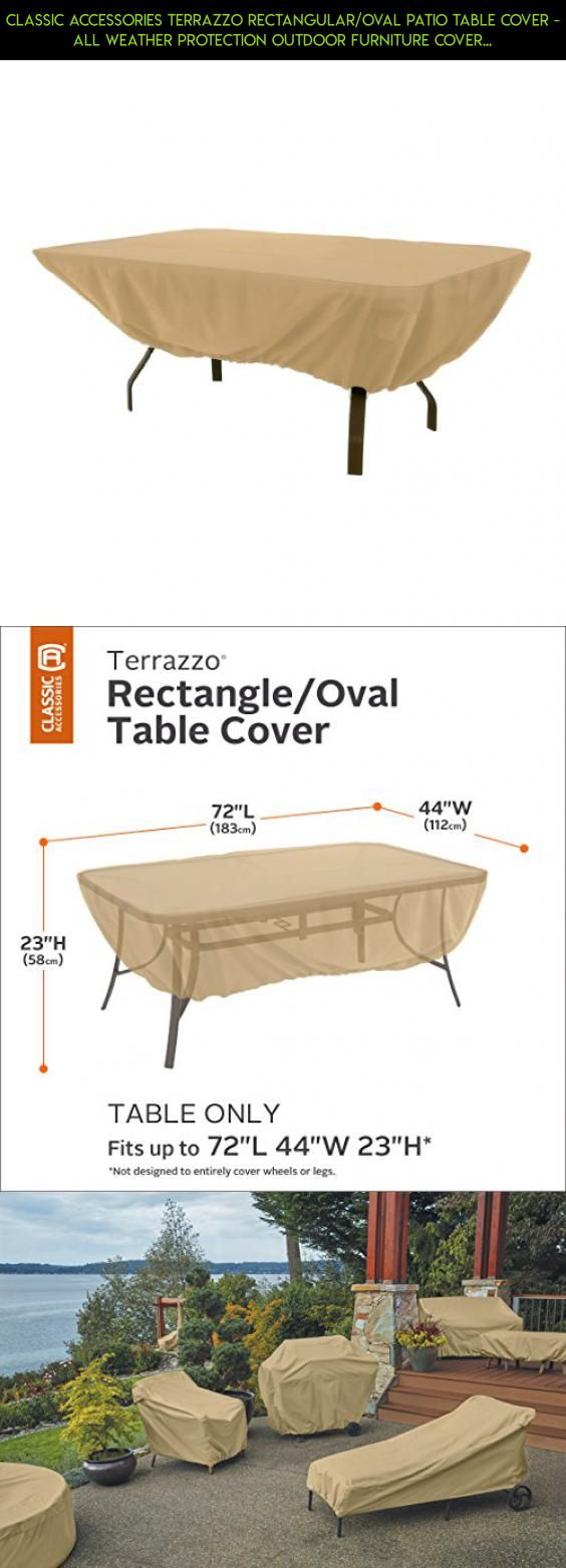 Classic Accessories Terrazzo Rectangular/Oval Patio Table Cover   All  Weather Protection Outdoor Furniture Cover Part 41