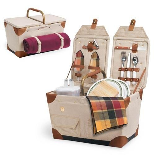 $130.00 (CLICK IMAGE TWICE FOR UPDATED PRICING AND INFO)  Picnic Time Canvas Picnic Basket - Pioneer.See More Picnic Baskets at http://www.zbuys.com/level.php?node=4007=picnic-baskets