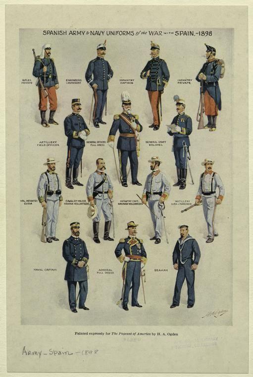 1898 Spanish American War Uniforms Of Spain The Spanish American