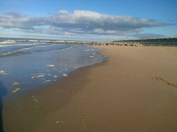 A Beautiful But Nippy Day At The Ffrith Beach Prestatyn Uk North Wales