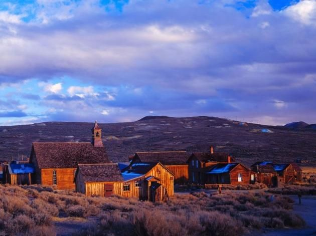 Now a State Historic Park, Bodie once boomed with 10,000 people in the 1870's and 1880's after gold was found in the nearby Mono Lake area.