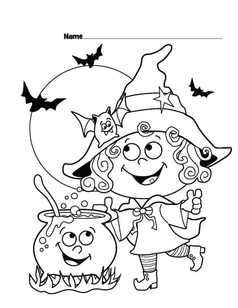 30 Cute Halloween Coloring Pages For Kids Halloween Coloring