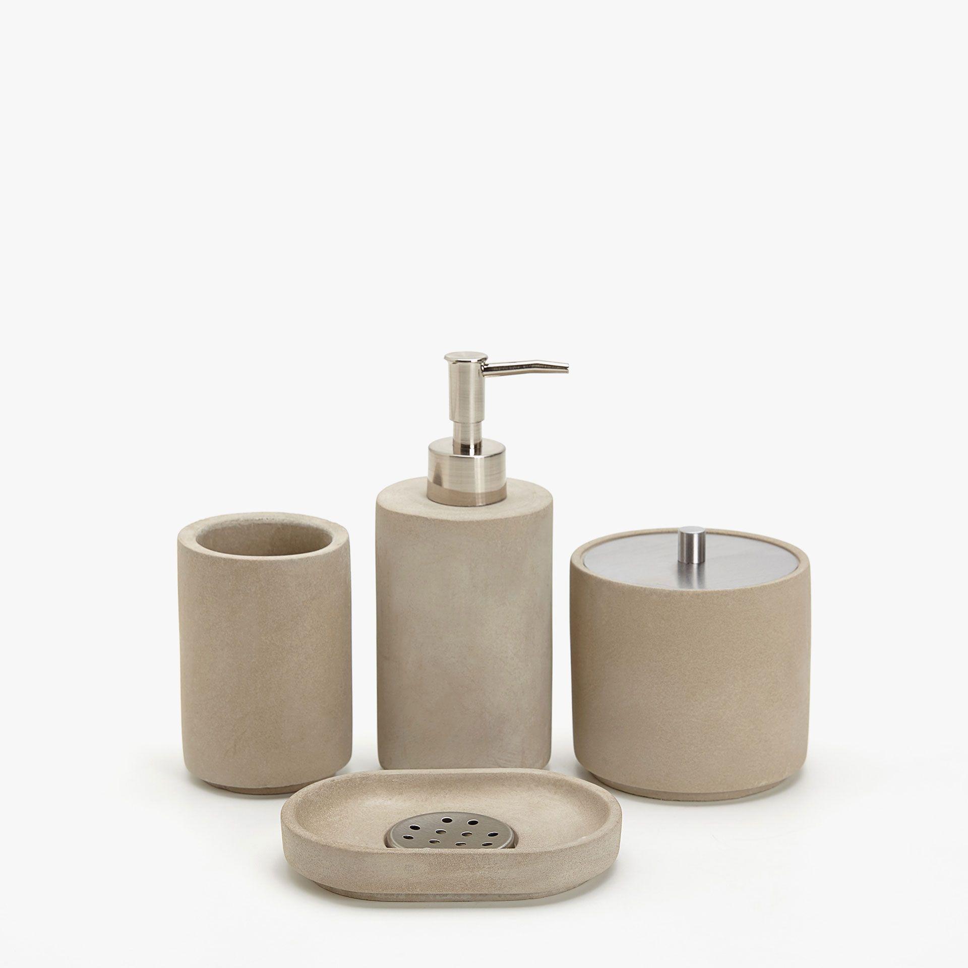 Set de baño de cemento - Accesorios de baño - Baño  fb8f957e18ee