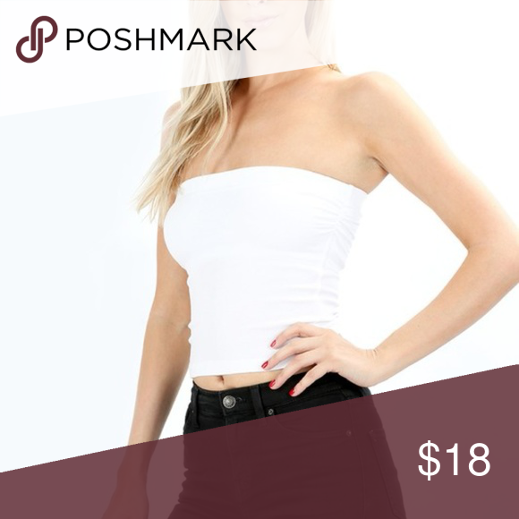 d60a34d553ffa White Tube Top Best selling cotton tube top with inside self bra for extra  support and